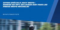 - 40 % sur tous les pneus moto Michelin